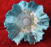 antike Glasschale-Abriß -Biedermeier  -20cm