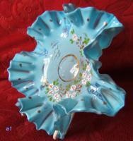 Foto 2 antike Glasschale-Abriß -Biedermeier  -20cm