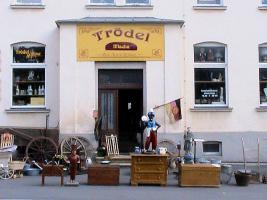 Eingang zum Trödlerhaus in Wernesgrün-Vogtl.