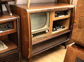 teil vom zimmer mit fernsehr radio tonband von 1951