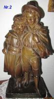 antikes Pärchen (Terracotta ?) -52cm