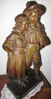 Foto 2 antikes Pärchen (Terracotta ?) -52cm