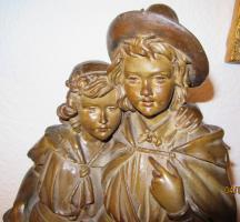 Foto 6 antikes Pärchen (Terracotta ?) -52cm