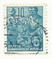 briefmarke ddr juni 55 gestempelt
