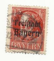 briefmarke freistaat bayern