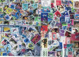 ca. 2000Briefmarken, postfrisch und gestempelt, gezähnt und geschnittene