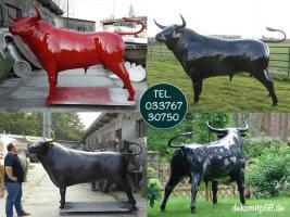 Foto 3 dein nachbar hat ne deko kuh und dein anderer nachbar ein deko pferd und du … ja dann hol dir einen deko stier ...