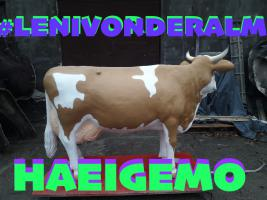 Foto 2 deko melkkuh lebensgross - modell leni von der alm ...