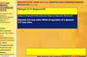 deutsch-englisch Textuebersetzung: Montage Inbetriebnahme Anlage Maschine Wartung Reparatur