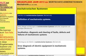 Foto 2 deutsch-englisch Textuebersetzung: Montage Inbetriebnahme Anlage Maschine Wartung Reparatur