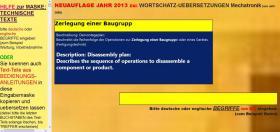 Foto 9 deutsch-englisch Textuebersetzung: Montage Inbetriebnahme Anlage Maschine Wartung Reparatur