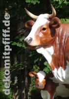 echt cool das gezeigte deko kalb gibts gratis dazu beim kaufe einer deko kuh lebensgross ….