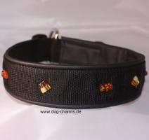 Foto 3 edelhalsband Bernstein Hundehalsband  Bordeaux Dogge Mops Mastino u.a