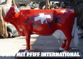 Foto 5 eine deko melk kuh kann auf reise gehen zu dir ???