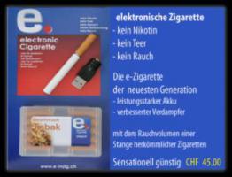elektrische zigarette mit usb ladegerät und 1 depot