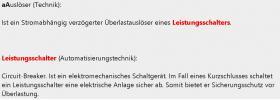 Foto 3 erklaerte Mechatronik-Stichwoerter in deutsch + deutsch-englisch Uebersetzungen