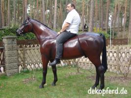 Foto 3 es ist so einfach auf einen deko pferd aufzusitzen ...
