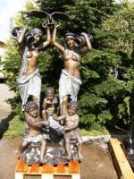 große Bronzeskulptur ''Brunnen mit Kindern'' englische Gießerei