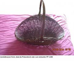 großer Korb, geeignet als Einkaufskorb oder Präsentkorb