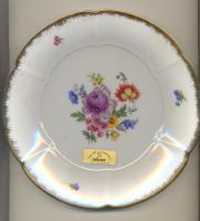 handbemalter Teller m. Echtgoldrand, REIMER, Atelier f. Porzellanmalerei