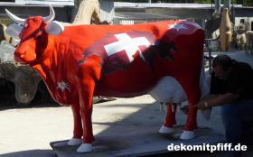 Foto 4 hast du schon mal milch gemolken ? so richtig aus deinen deko Melk Kuh lebensgross …?