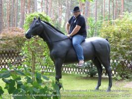 jaaaaa so ein Deko Pferd lebensgroß - Modell  könnte auch in Deinen Garten stehen ...