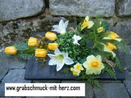 Foto 2 künstlicher Grabschmuck in wunderschönen Varianten