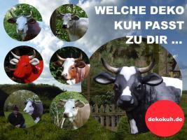 Foto 2 kuh cow als deko in kitzbühel ...