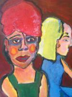 Foto 2 kunstbilder öl-acryl