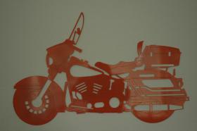 lasergeschnittenes Edelstahl Motorrad