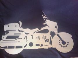Foto 2 lasergeschnittenes Edelstahl Motorrad