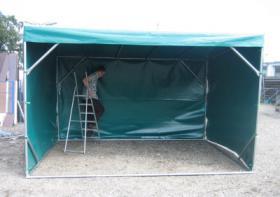 Foto 4 mobile Weidezelte im Pultdachsystem 4 oder 6m ab 950, - €