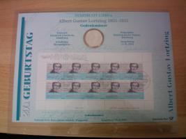 Foto 2 numisblätter mit münzen