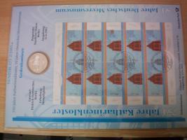 Foto 5 numisblätter mit münzen
