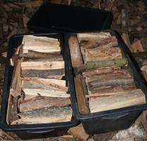 Foto 4 ofenfertiges trockenes Brennholz; 20-25cm Länge gemischt pro 65dm³
