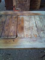 restauriere altes holz/metall