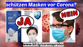 schützen Masken vor Corona ?