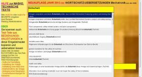 sentence translator: german-english Technical Texts