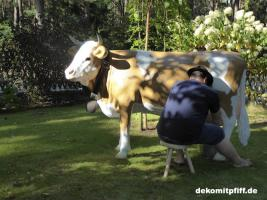 Foto 5 was du hast noch keine simmentaler deko melk kuh lebensgross …?