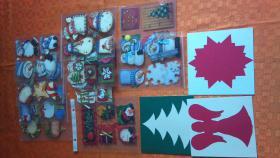 weihnachtsfertigsticker und Grußkarten