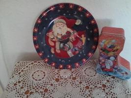 weihnachtsgebaeckteller aus porzellan abzugeben