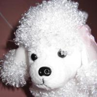 Foto 6 weißer Pudel - Pudeltasche - Stoffpudel - Karneval - Fasching - neu