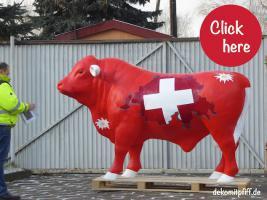 Foto 3 #winterthur - Schweizer Deko Bulle lebensgross ...