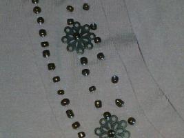 Foto 3 wunderschöne Damentunika rosa mit braunen Perlen