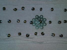 Foto 5 wunderschöne Damentunika rosa mit braunen Perlen