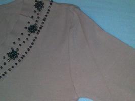 Foto 6 wunderschöne Damentunika rosa mit braunen Perlen