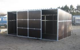 zerlegbare mobile Weidehütten erweiterbares Baukastensystem