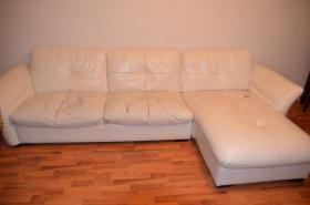 Foto 5 zu Verschenken Sofa Couch weiß Kunstleder gebraucht