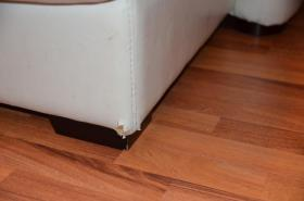 Foto 6 zu Verschenken Sofa Couch weiß Kunstleder gebraucht